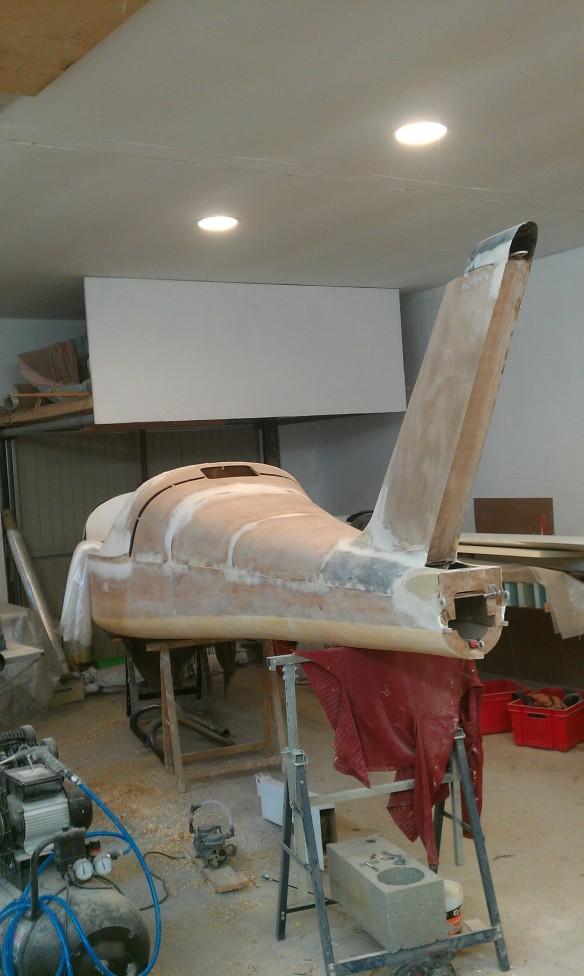 Fuselage en cours de fabrication