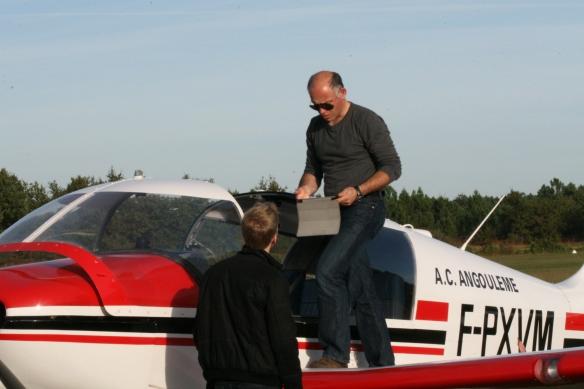 Avant le retour, échange entre pilote: merci la tablette :D