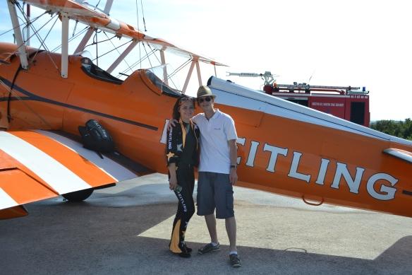 Briethling, la Wingwalker Danielle Hughes et moi :)