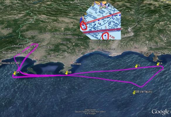 Tracé GPS avec les différents points virtuels